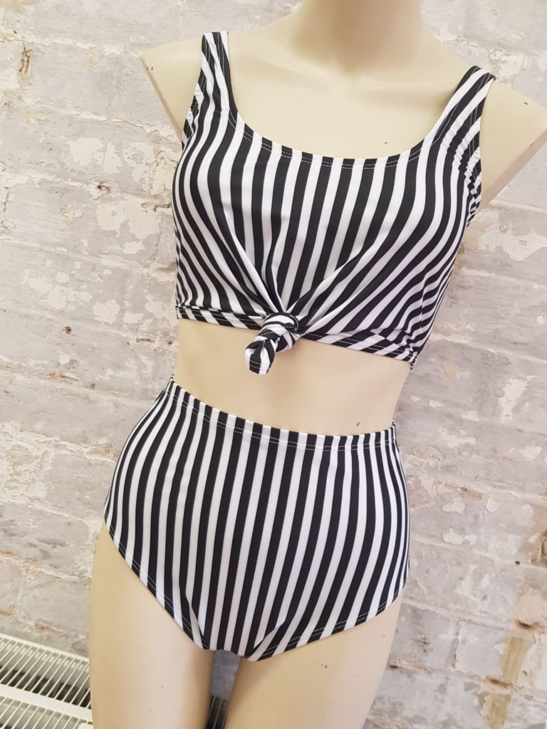 Striped Knot Top Bikini