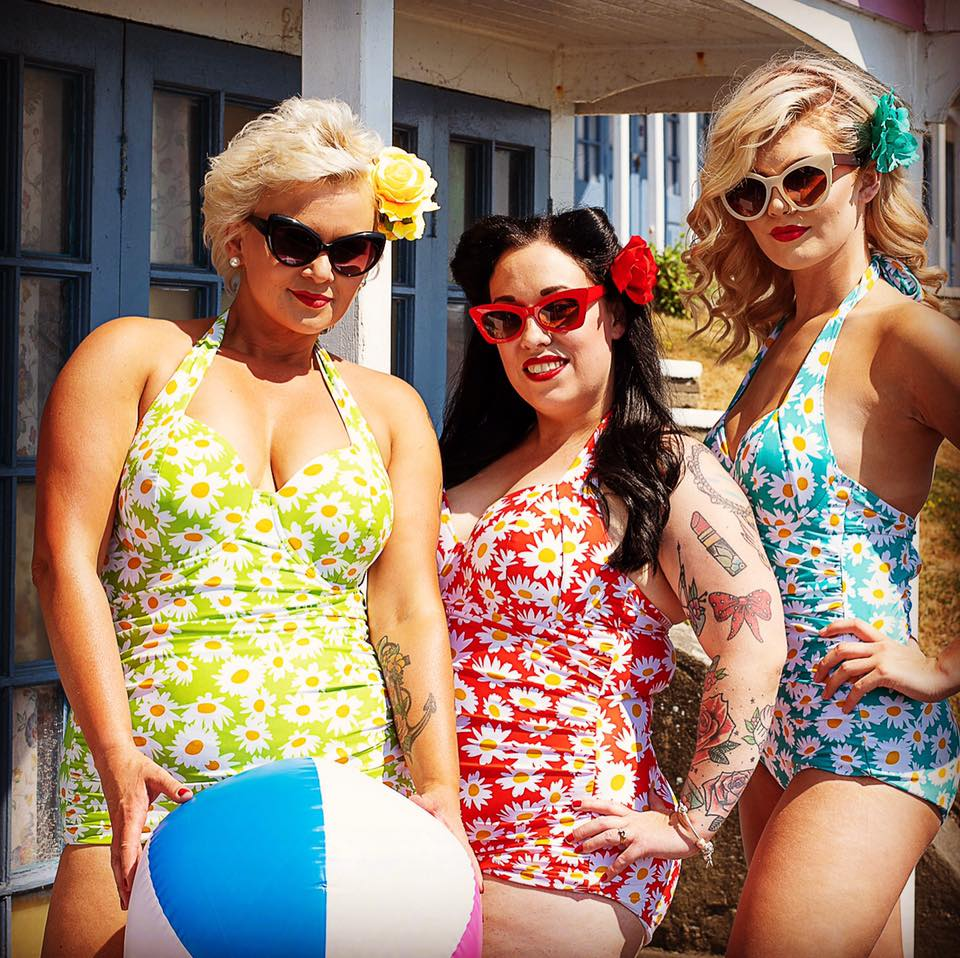 BettyLicious 1950s Daisy Print Underwired Swimsuits
