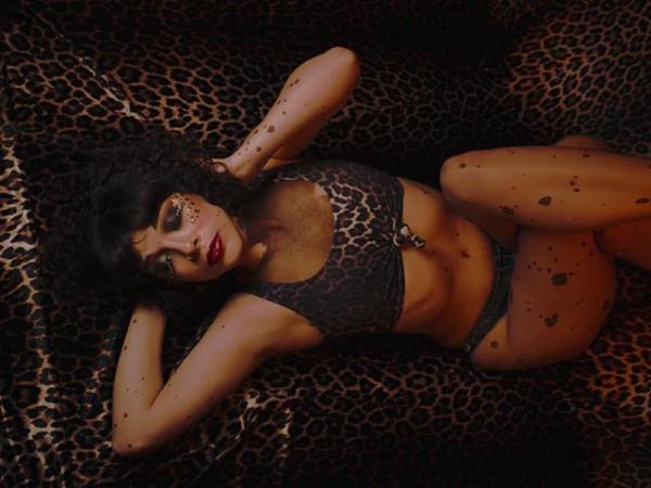 Cheetah Print Knot Top Bikini Set