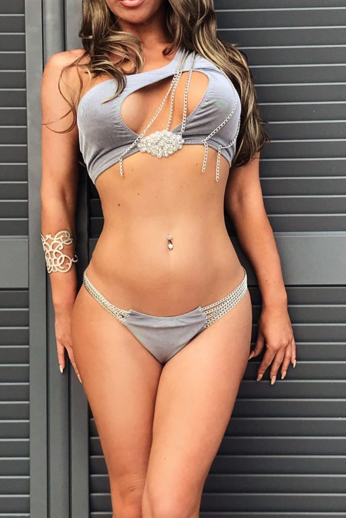 Silver Canico Three Piece Swimwear