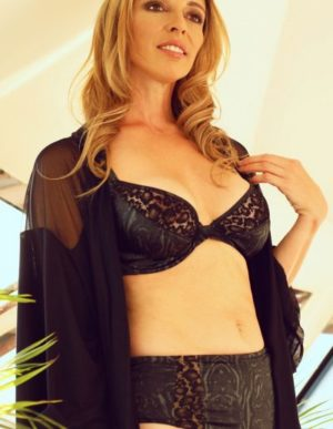 Leopard Lace and Printed Satin Wired Bra and Knicker