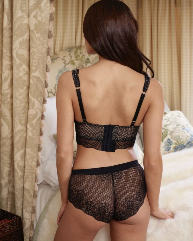 Lace Bralet and Low Rise Knicker