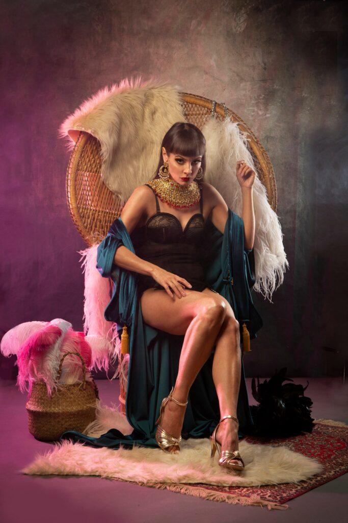 1920s Teal Velvet Gatsby Dress